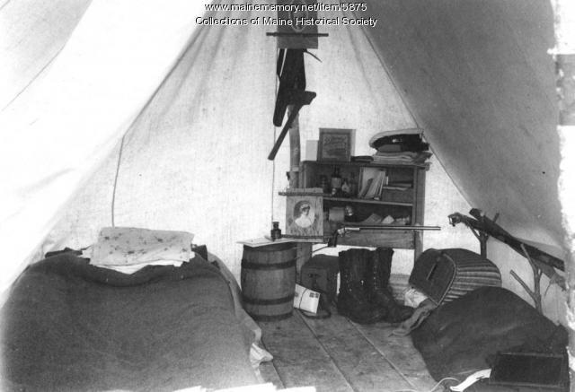 John W.G. Dunn's tent, Ragged Lake, 1901
