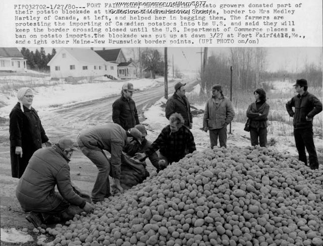 Potato blockade, March 27, 1980