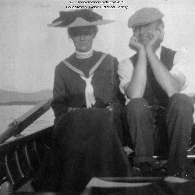 John and Alice Dunn, Moosehead Lake region, 1904