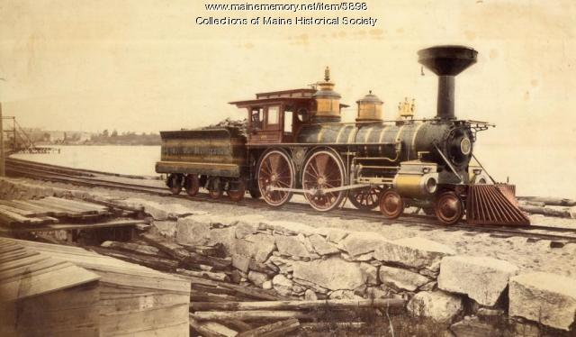 Grand Trunk Railroad engine 255, Portland, ca. 1870