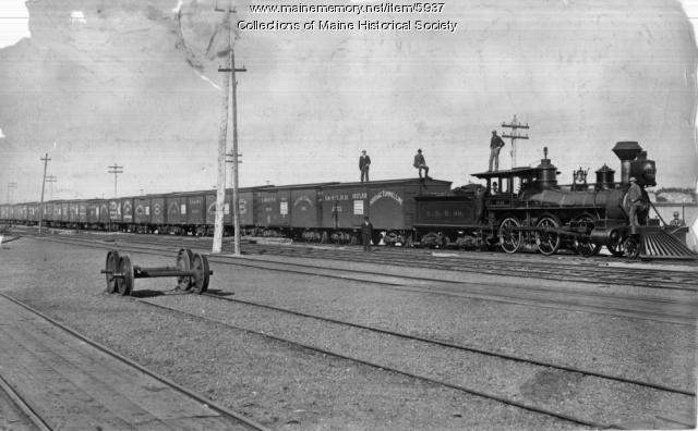 Eastern Railroad, Locomotive #96, ca. 1890