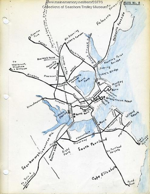 Portland, South Portland, & Cape Elizabeth electric railroads, , ca. 1941