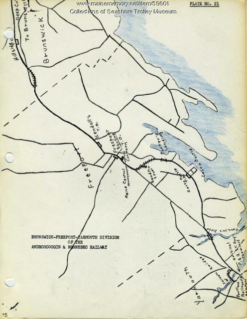 Freeport electric railroads map, ca. 1929