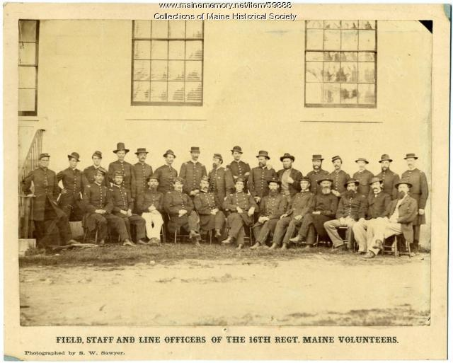 16th Regiment Maine Volunteers officers, ca. 1862