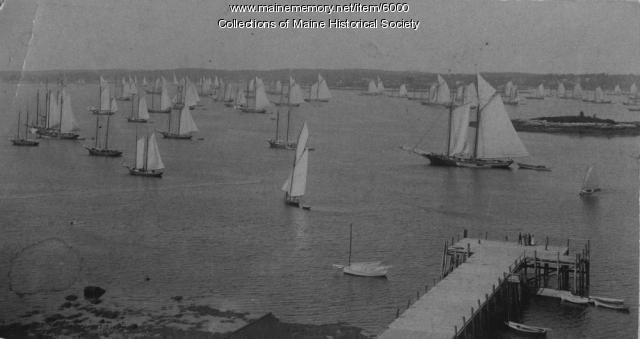 Mackerel fleet, Boothbay Harbor, ca. 1894