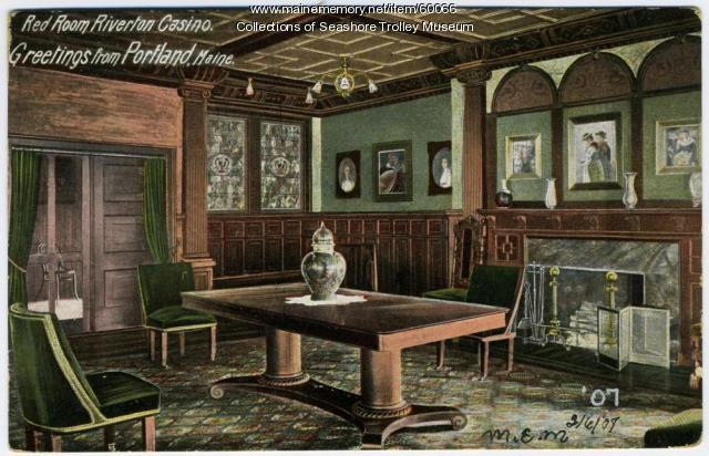 The Red Room, Riverton Casino, Portland, 1907