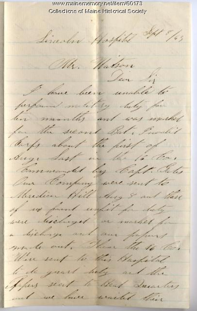Letter from soldiers seeking discharge, Virginia, 1863