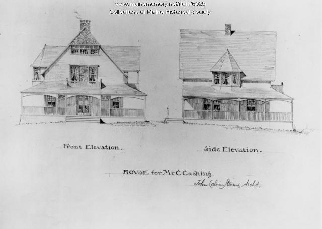 Cushing house, Cushings Island, ca. 1883