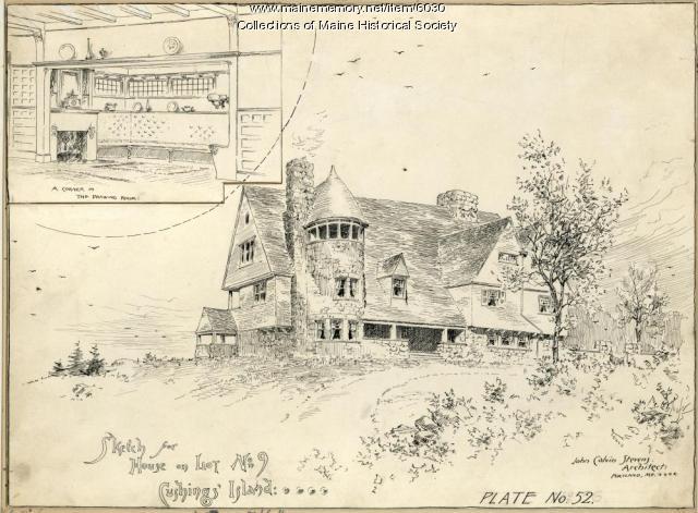 House sketch, Cushing's Island, ca. 1883