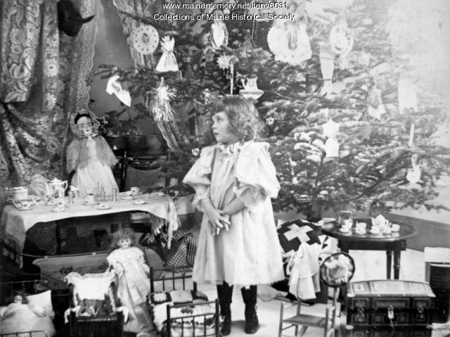 Christmas girl, Portland, 1895
