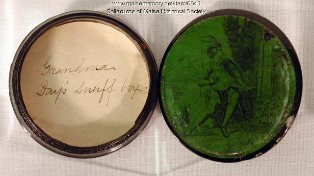 Grandma Day's snuff box, ca. 1760