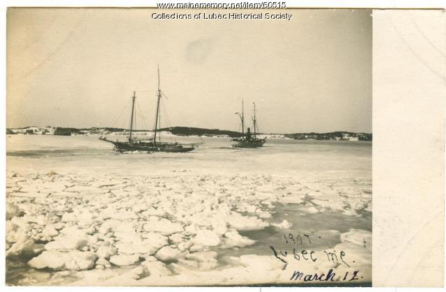 Ice in Passamaquoddy Bay, Lubec, 1907