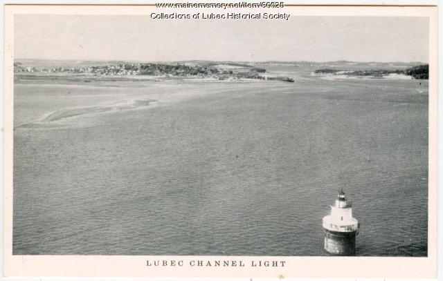 Channel lighthouse, Lubec, ca. 1950