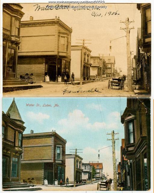 Water Street, Lubec, 1906