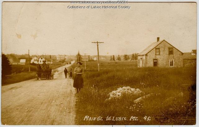 Main Street, West Lubec, ca. 1905