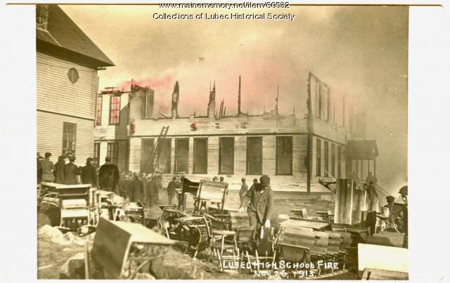 High School fire, Lubec, 1913