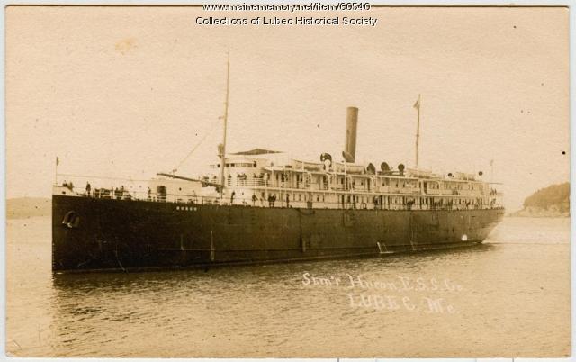 "Steamship ""Huron,"" Lubec, ca. 1907"