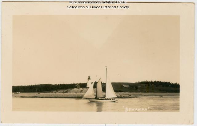 Franklin Roosevelt schooner in Lubec Narrows, 1936