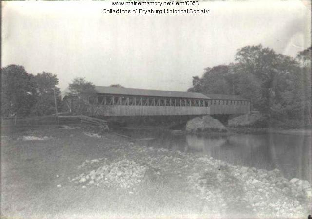 Weston's Covered Bridge, Fryeburg, ca. 1880