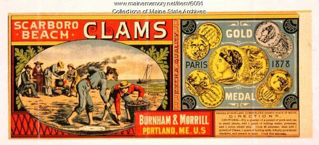 Burnham and Morrill Company Trademark for Scarboro Beach Clams