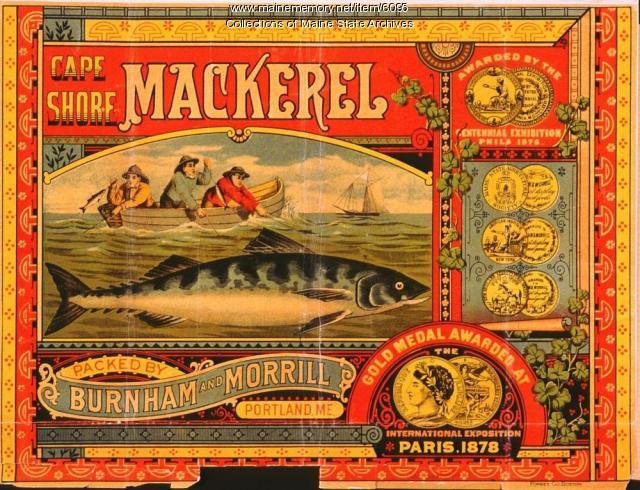 Burnham and Morrill Company Trademark for Cape Shore Brand Canned Mackerel