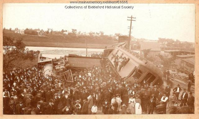 Train wreck, Biddeford, 1894