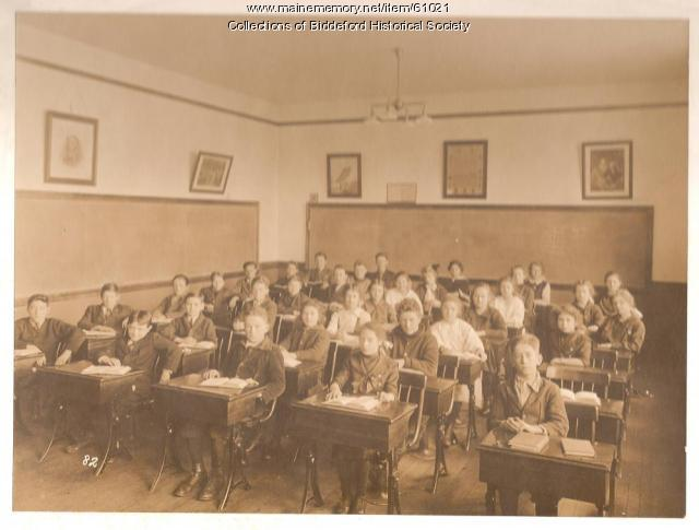 Classroom and students, Biddeford, ca. 1900