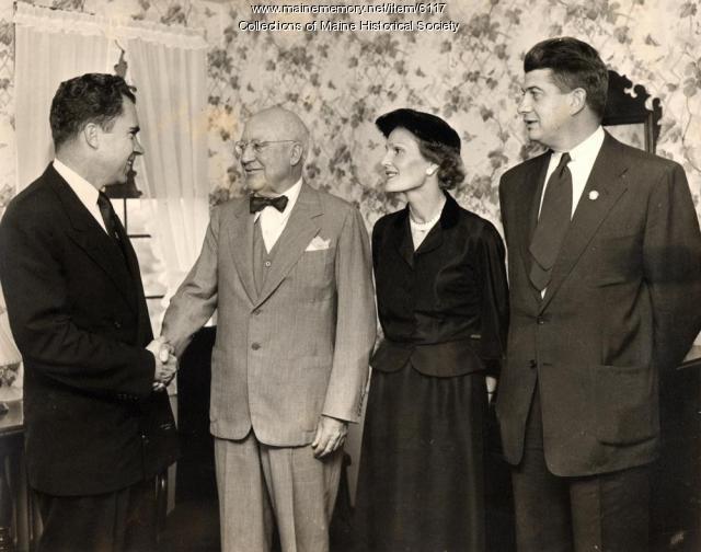 Nixons and Guy P. Gannett, 1952