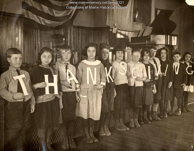North School pageant, Portland, ca. 1920