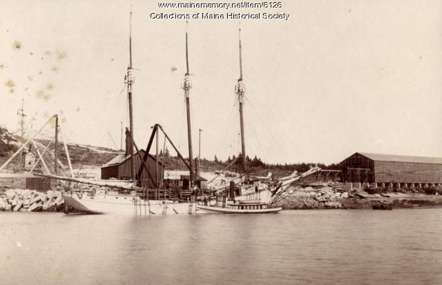 Quarrying tugboat, Deer Isle, ca. 1900