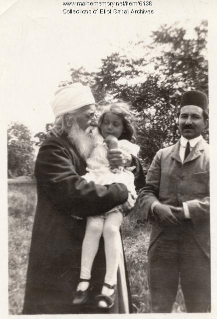 'Abdu'l-Baha, Mrs. Morse's daughter and Ahmad Sohrab, 1912