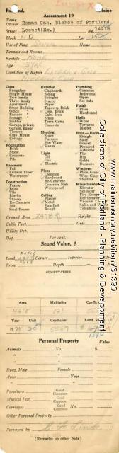 Assessor's Record, 14-18 Locust Street, Portland, 1924