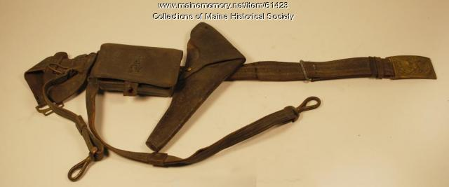 Grenville Sparrow cartridge belt, ca. 1862