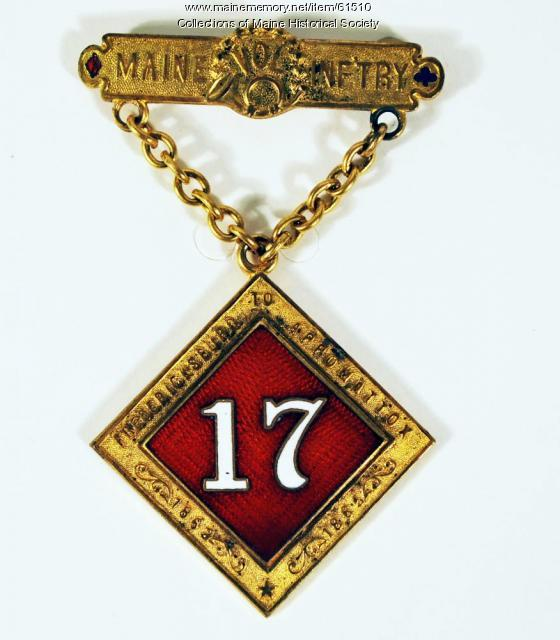 Sparrow 17th Maine medal, ca. 1866