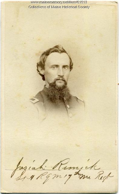 Josiah Remick, 17th Maine, ca. 1862