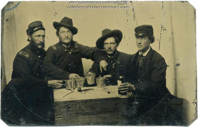 Grenville Sparrow and friends, ca. 1864
