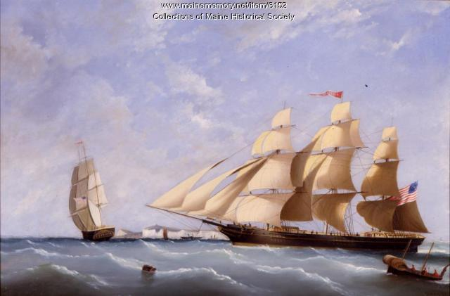 "Clipper ship the ""Portland,"" ca. 1850"