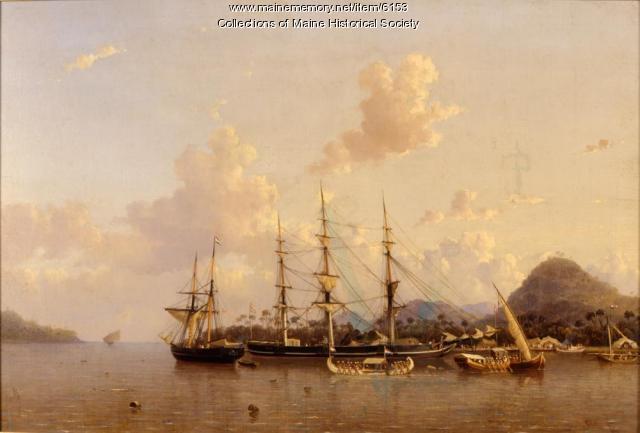 Clipper Grecian in the Dutch East Indies, ca. 1854