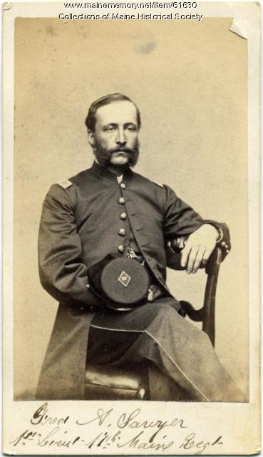 Lt. Frederic A. Sawyer, Portland, ca. 1863