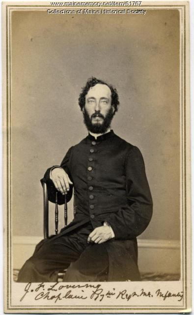 Chaplain Joseph F. Lovering, Portland, ca. 1863