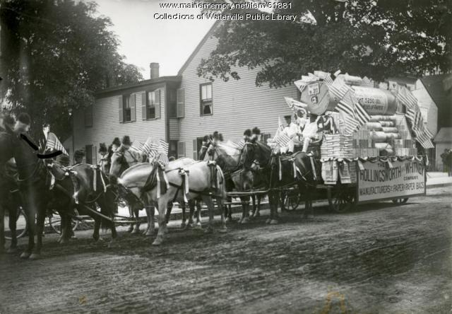 Hollingsworth & Whitney Company float, Waterville, 1902