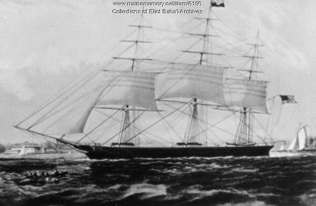 The Nightingale clipper ship, ca. 1880
