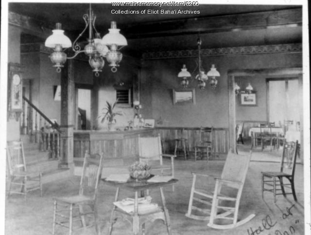Lobby, Eliot Hotel, ca. 1890