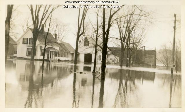 Flooded homes in Winslow, 1936
