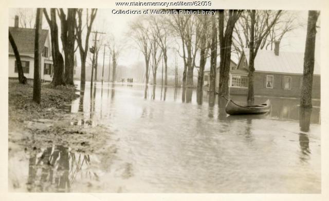 Flooded street in Winslow, 1936