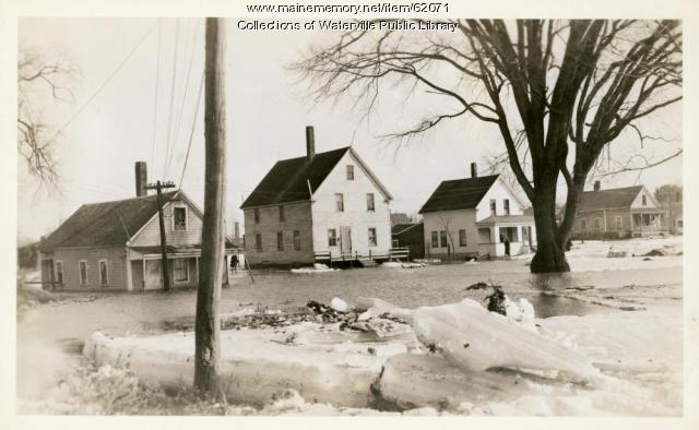 Flooded street, Fairfield, 1936