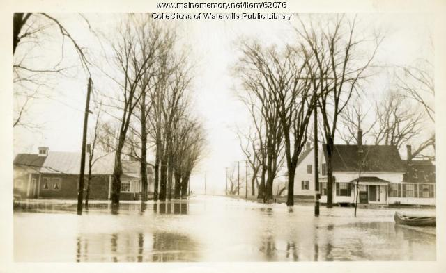 Flooded street, Winslow, 1936