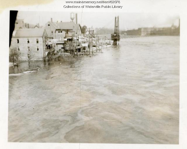 Head of Falls, Flooded, Waterville and Winslow, March 1936
