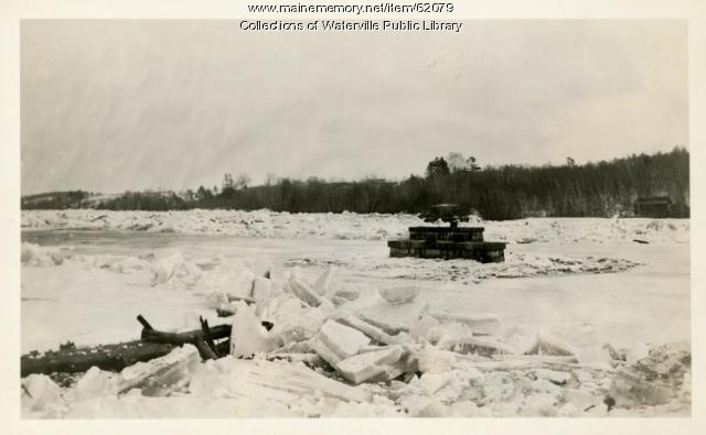 Flooded Kennebec River, Waterville and Winslow, March 1936
