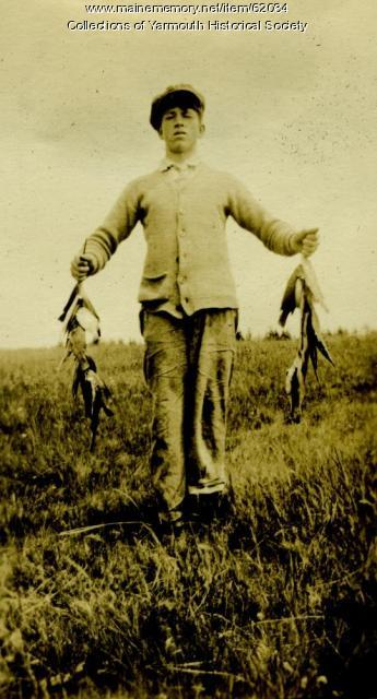 A day's fishing, Cousins Island, ca. 1924